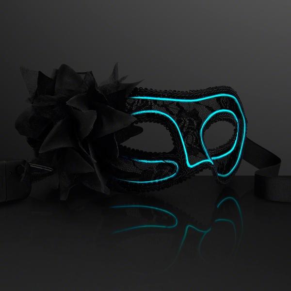 Aqua E.L. Wire Mardi Gras Mask