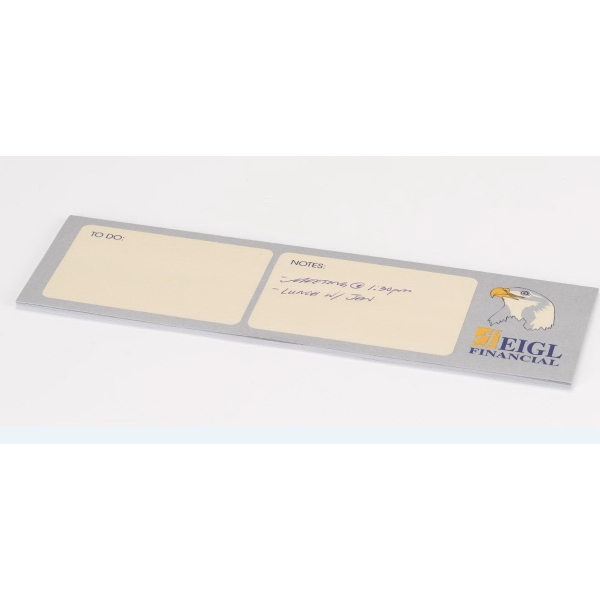 "Custom Printed Organizational Post-it Notes (3""x10"") 50 Sht - Organizational Post-it Notes (10"" x 3"") 50 Sheets, 4 color."
