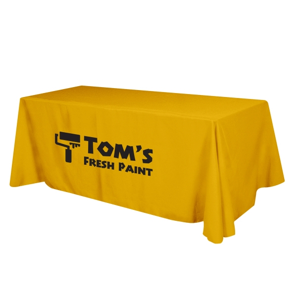Flat Poly/Cotton 3-sided Table Cover - fits 8' table