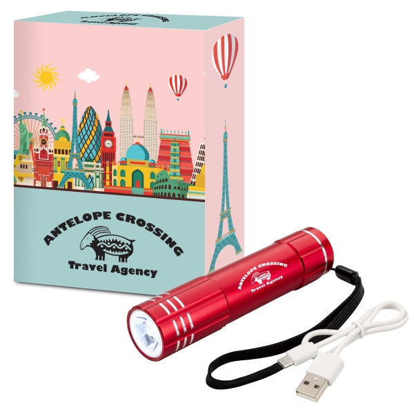 UL Listed Power Bank Flashlight With Custom Box