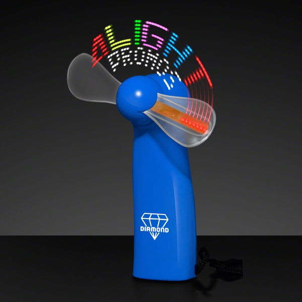 Logo Light Message Fan with 24 LEDs - Blue