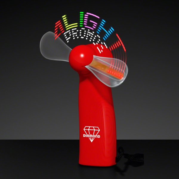 Logo Light Message Fan with 24 LEDs - Red