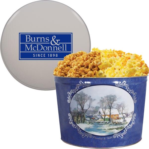 Two Gallon Popcorn Tin - Two Flavors