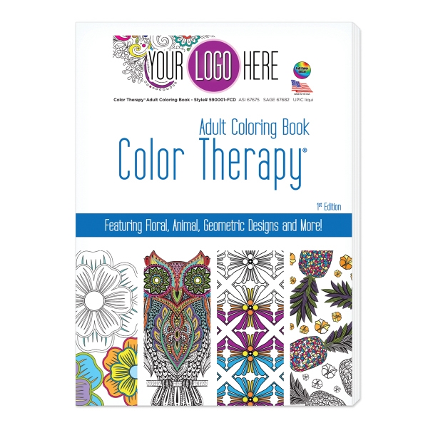 Color Therapy 24 Page Adult Coloring Book