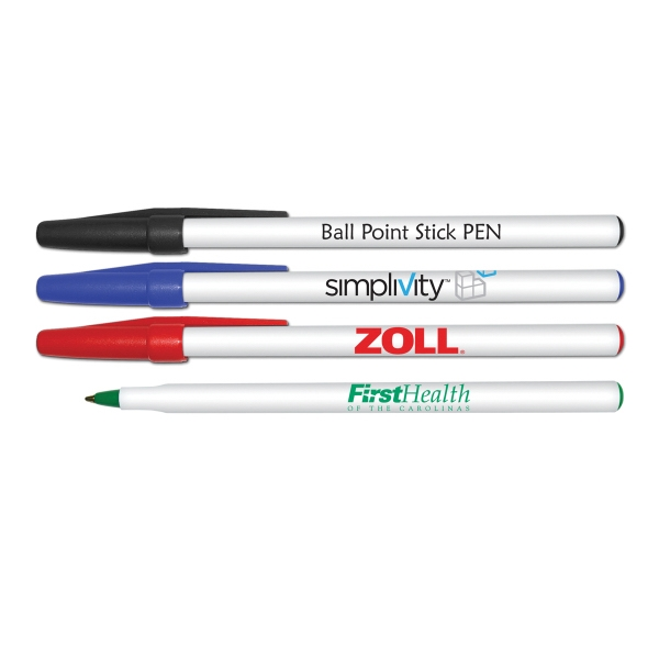 Round Ball Point Stick Pen