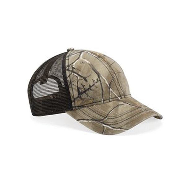 Outdoor Cap Mesh-Back Camo with Flag Undervisor Cap