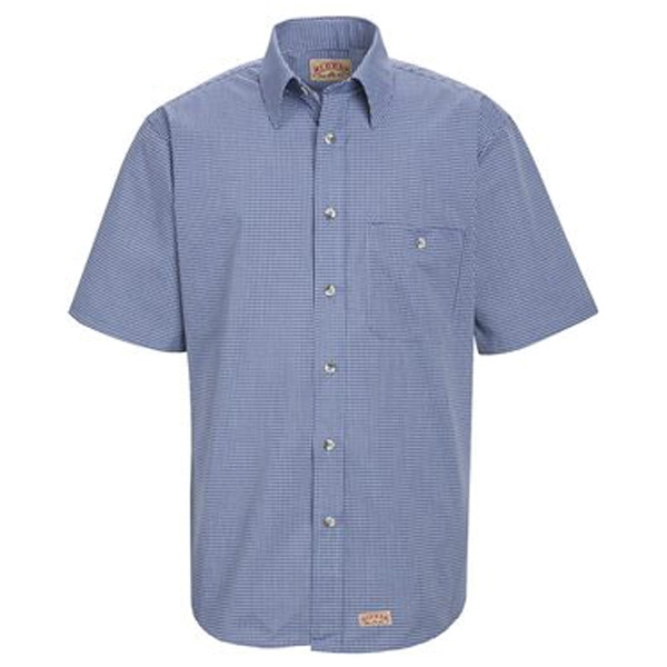 Red Kap Mini-Plaid Uniform Short Sleeve Shirt