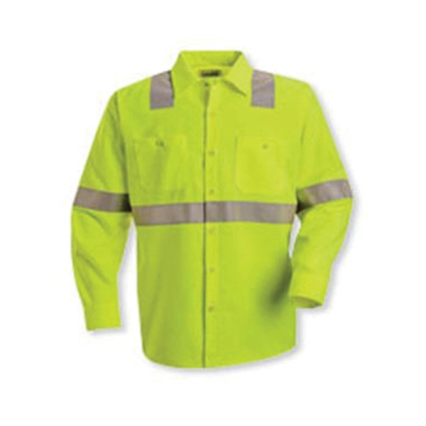 Red Kap High Visibility Safety Long Sleeve Work Shirt