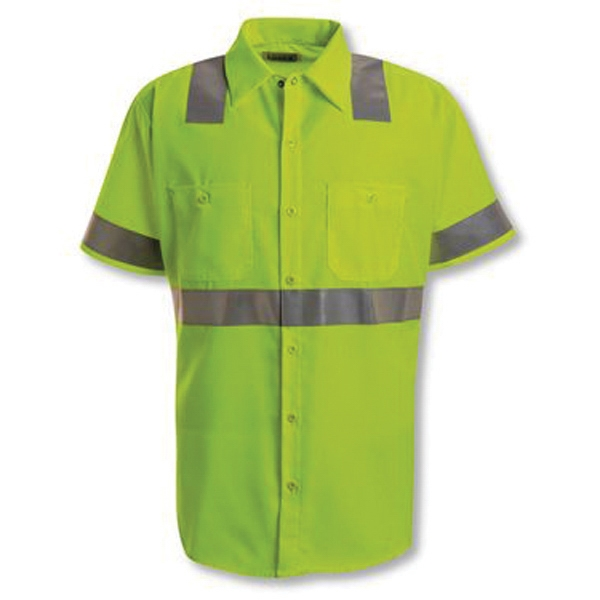Red Kap High Visibility Safety Short Sleeve Work Shirt