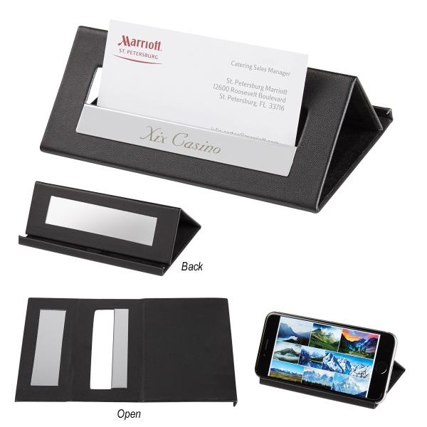Executive Desk Card Holder/Media Stand