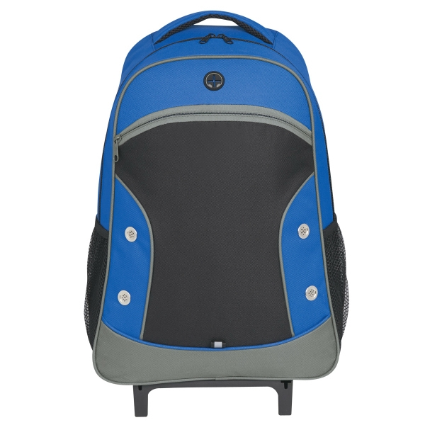 World Tour Rolling Backpack - World Tour Rolling Backpack.  Made of 600 Denier Polyester.  Adjustable Shoulder Strap and Padded Web Carrying Handle.