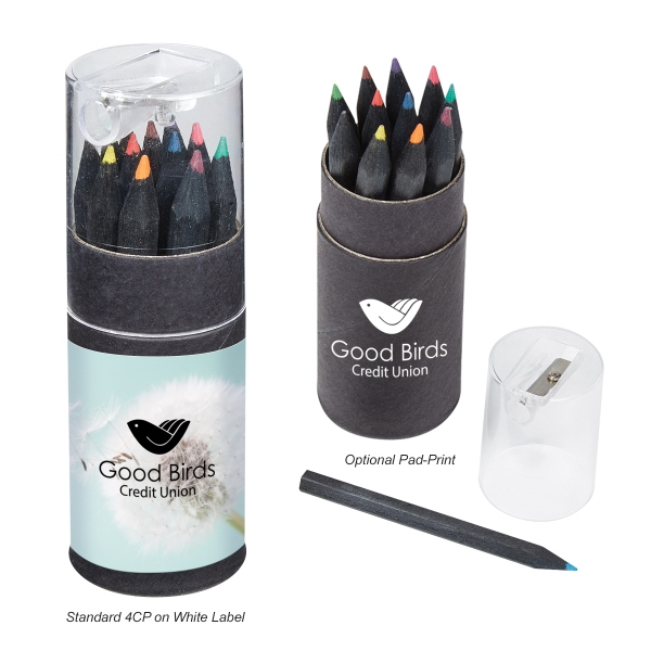 Blackwood 12-Piece Colored Pencil Set With Sharpener
