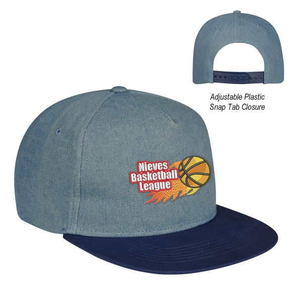Shades Of Blue Denim Cap
