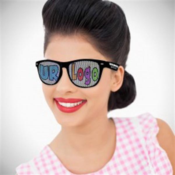 Black Custom Classic Retro Billboard Sunglasses