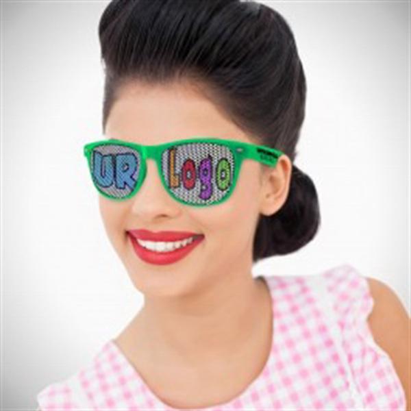 Green Custom Classic Retro Billboard Sunglasses