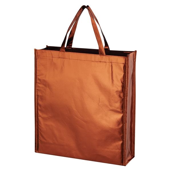 Metallic Non-Woven Shopper Tote Bag