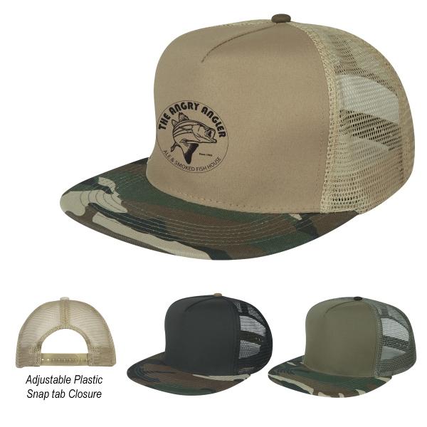 Camo Flatbill Cap - Camo Flatbill Cap