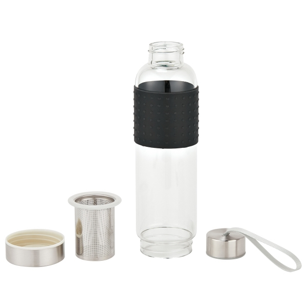 18 Oz. Infuser Glass Bottle