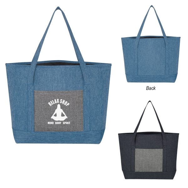 Denim-Effect Tote Bag