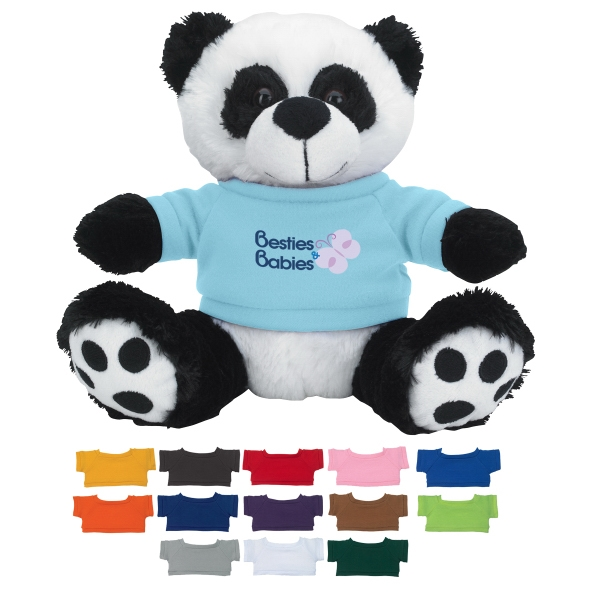 "8 1/2"" Big Paw Panda With Shirt"