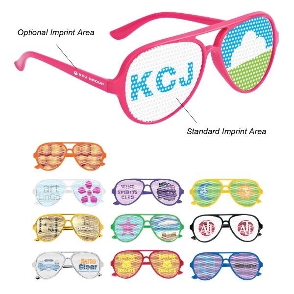 Dominator Glasses - Dominator glasses with pinhole lens stickers.