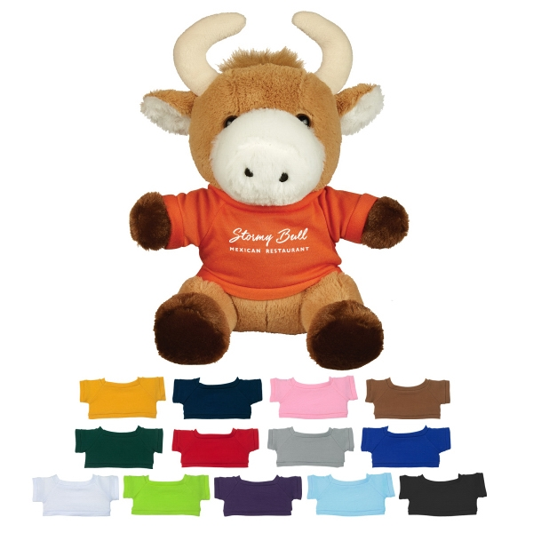 """8 1/2"""" Brave Bull With Shirt"""