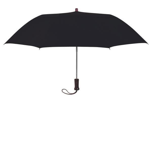 "44"" Arc Telescope Folding Wood Handle Umbrella"