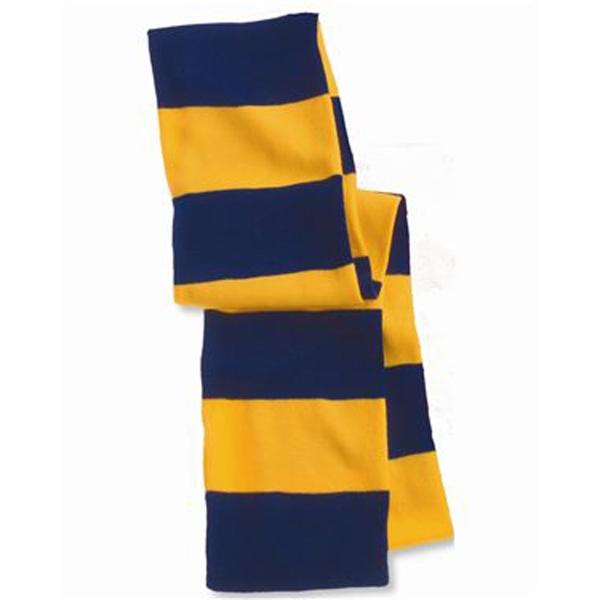 Sportsman Rugby-Striped Knit Scarf