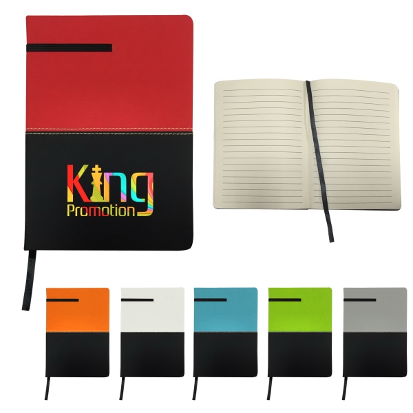 "5"" X 7"" Two-Tone Leatherette Journal"