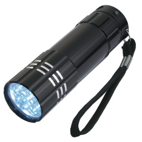 Aluminum LED Flashlight with Strap