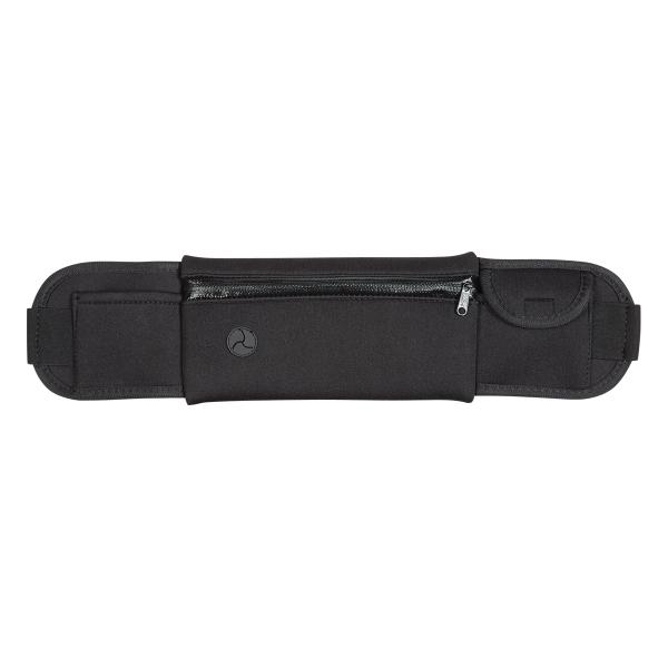 Neoprene Running Belt Fanny Pack - Neoprene Running Belt Fanny Pack features a Large Zippered Front Pocket, Two Small Side Pockets. Built-In Slot For Ear Buds.