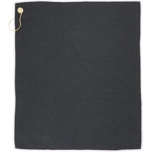 1.8lb./doz Microfiber Waffle Weave Golf Towel