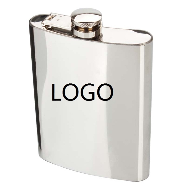7 oz Stainless Steel Hip Flask, Wine Pot