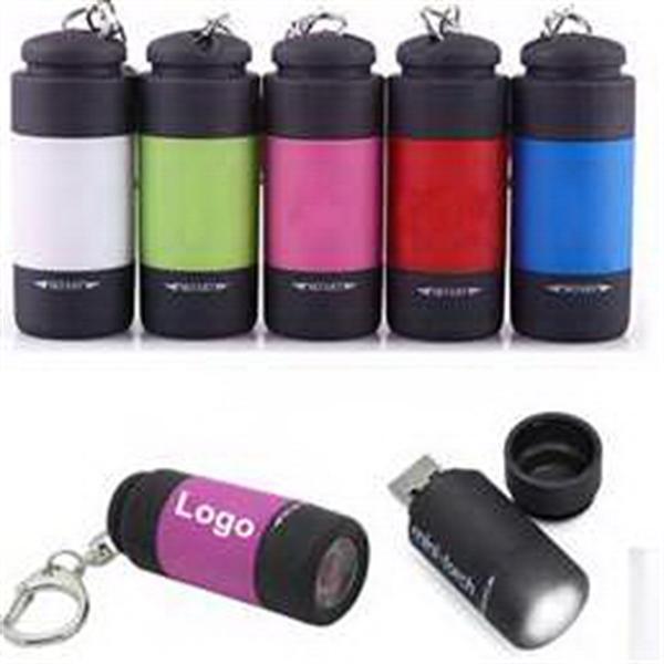 USB Rechargeable Flashlight Keychain