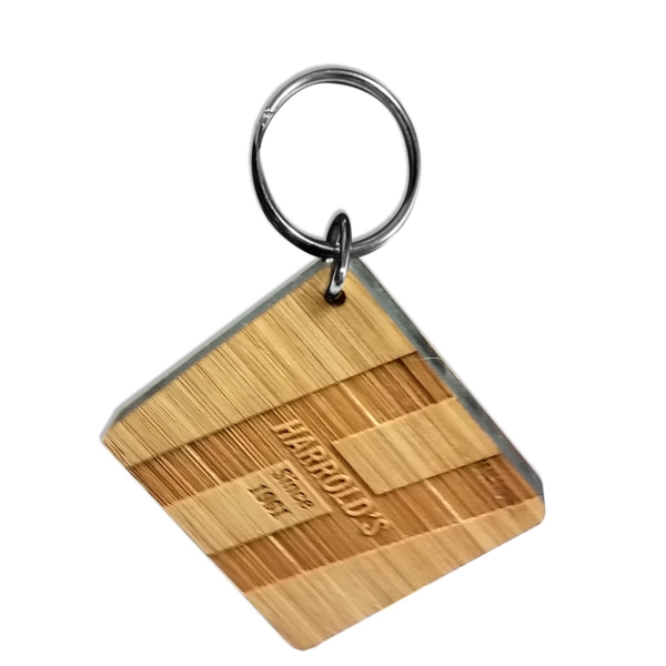 Bamboo Key Chains (3 Square Inches)