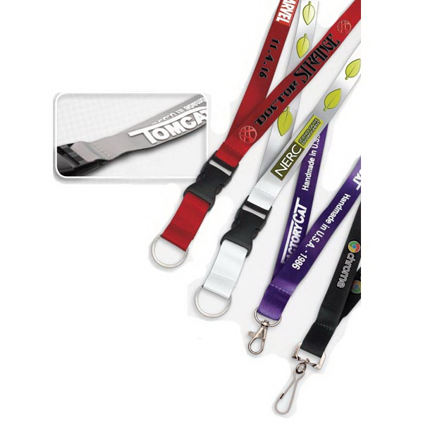 3-D Lanyard with Raised Silicone Imprint