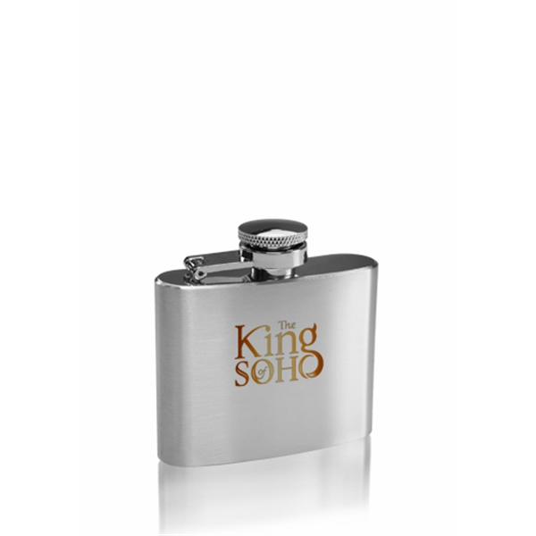 2 oz Heron Brushed Finish Stainless Steel Hip Flask