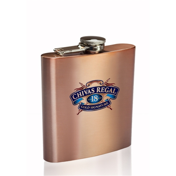 6 oz Sphynx Copper Coated Hip Flask