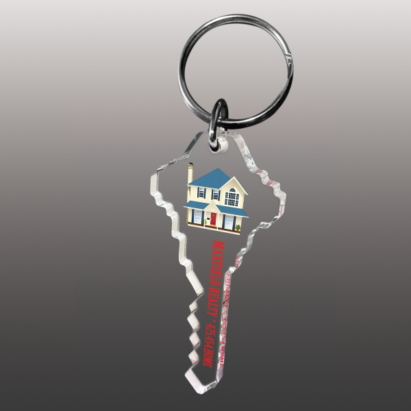 Ultra Vivid Color Key Chains (3 Square Inches)