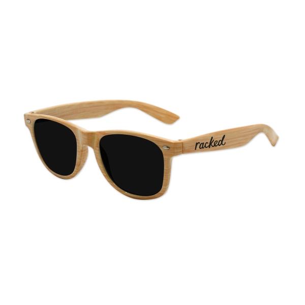 Kids Wood Grain Iconic Sunglasses