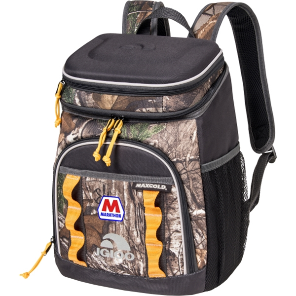 RealTree (R) Cooler Pack - 48 Cans capacity cooler pack with camouflage pattern.