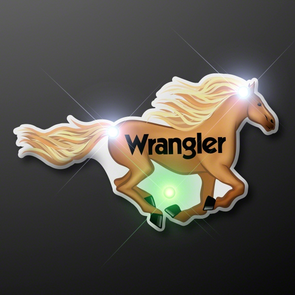 Blinky LED Horse Lapel Pin Lights