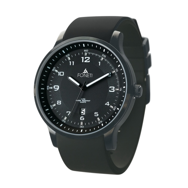Unisex Watch w/ Silicone Rubber Straps