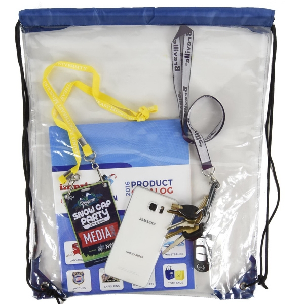Clear Backpack - See Through Drawstring