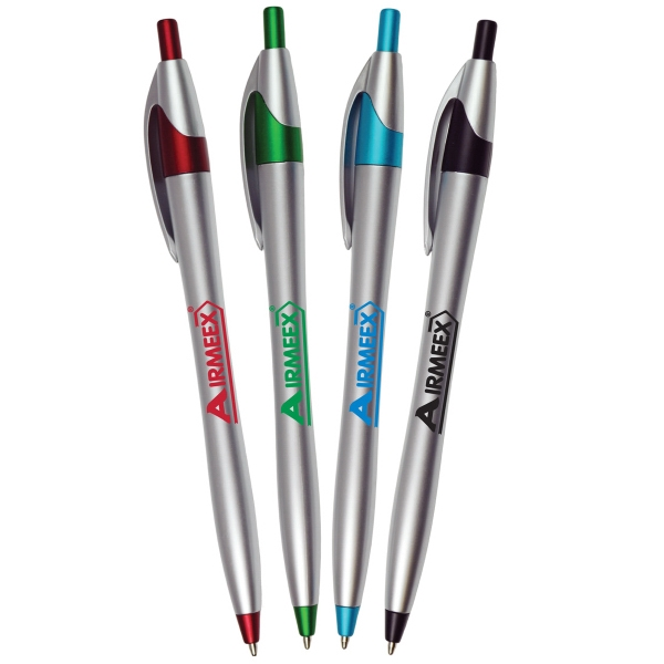 Silver Barrel Click European Design Ballpoint Click Pen