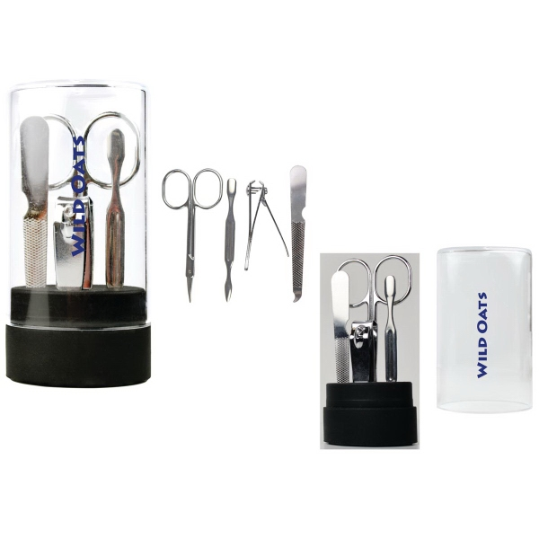 Manicure Set with Acrylic Container and Stand