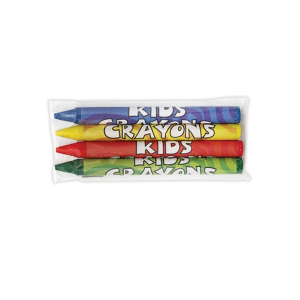 4 Pack Cello Wrapped Crayons