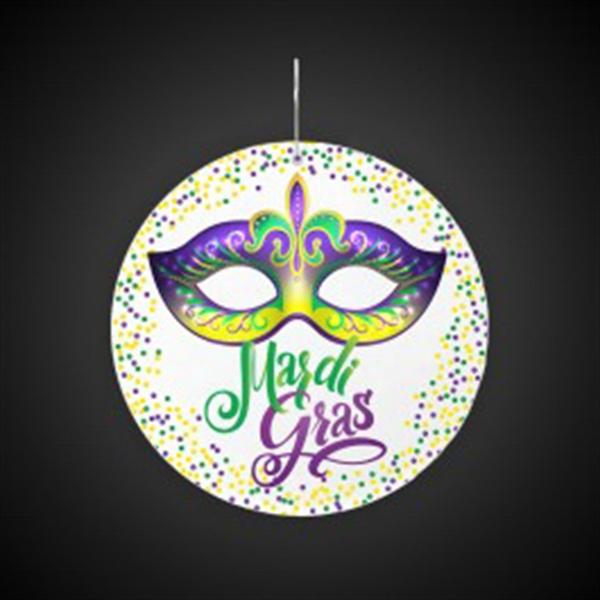 "Mardi Gras Mask Plastic Medallions - 2 1/2"""