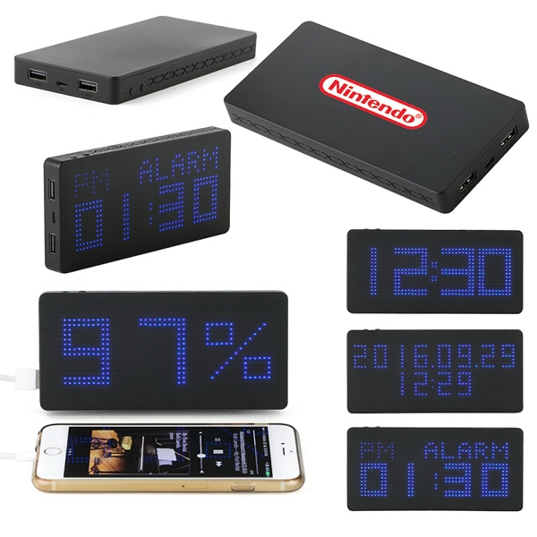 Kronos 4000mAh Powerbank Alarm Clock