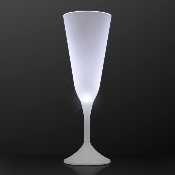 Still White Light Champagne Glass